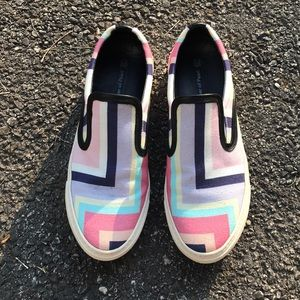 Mother Of Pearl + Jim Lambie Canvas Slip On Shoes